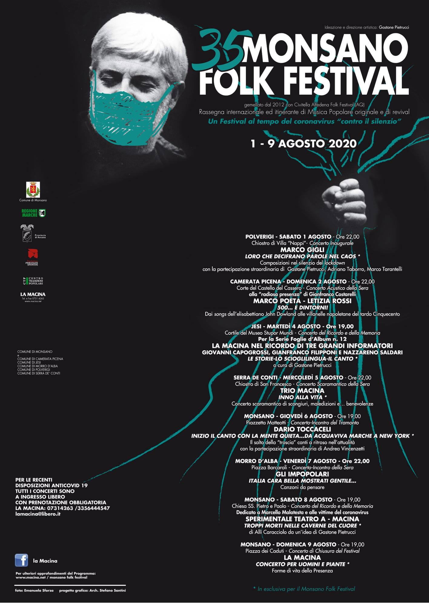 Programma 35° Edizione del Monsano Folk Festival